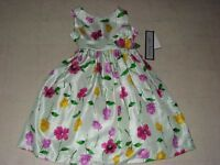 Jayne Copeland Floral Green Dress For Girls Sz 4 - $68