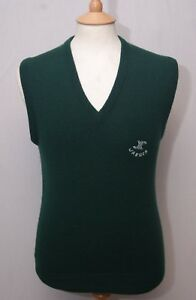 155ac427ac324a Jaeger men s dark green sleeveless lambswool pullover slipover S 36 ...