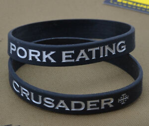 Rubber-Bracelet-Bracelet-Pork-Eating-Crusader