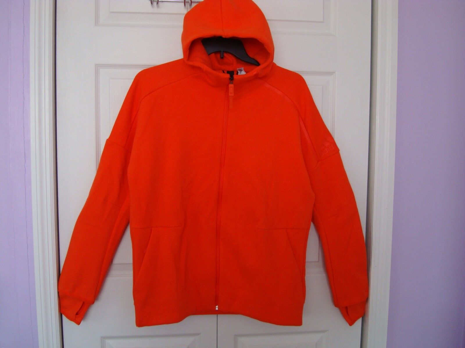 NWT Adidas Donna Athletic ZNE Hoodie Jacket B46938 Orange Size XL  100