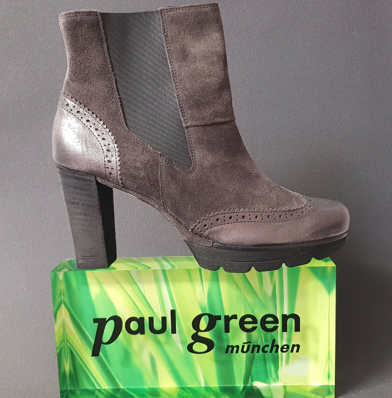 modische Damen Paul Grün 8912 018 grau anthrazit Leder SALE