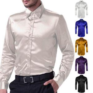New-Men-Slim-Fit-Luxury-Silk-Like-Satin-Long-Sleeve-Shirt-Men-Casual-Dress-Shirt