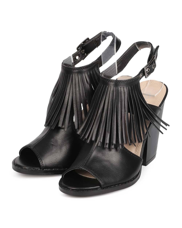 New Women Nature Breeze Webber-01 Leatherette Slingback Peep Toe Block Heel Slingback Leatherette Mule 5f0932