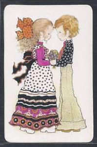 920-062-Blank-Back-Swap-Card-MINT-Sarah-Kay-Boy-gives-girl-flowers