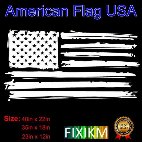 window hood fender roof Distressed American Flag vinyl decal for body side