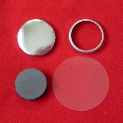 "1"" 1 Inch COMPLETE TECRE MAGNET Button Parts for Button Maker Machines"
