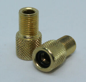 Presta-to-Schrader-Valve-Adapter-Pack-of-Two-Brass-Adapter-for-Presta-Stem-2-pcs