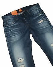 Hugo Boss 50283140 Dark Blue Denim Orange 90 insane Jeans W34 L34