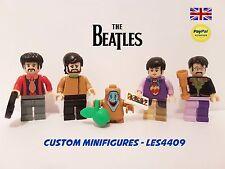 THE BEATLES 5PC CUSTOM MINIFIGURE SET   YELLOW SUBMARINE   + FREE LEGO BRICK UK