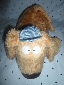 "Dog Train Midnight Express Dog Engineer 14"" Plush Toy Stuffed Animal"
