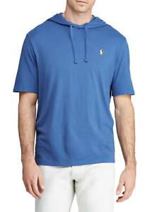 Polo-Ralph-Lauren-Men-039-s-HOODED-T-shirt-BLUE-100-Soft-Cotton-LT-XLT-3XLT-2XB-NEW