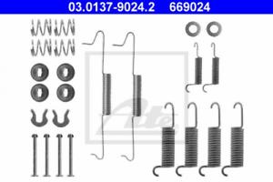 Bremsbacken für Bremsanlage Hinterachse ATE 03.0137-9024.2 Zubehörsatz