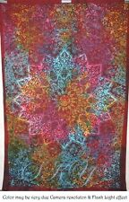 Indian Mandala MULTI STAR ROUND Psychedelic Tapestry Ceiling TWIN Home BED SB 10