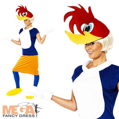 Winnie Woodpecker Ladies Fancy Dress Looney Tunes Cartoon Adults Costume Outfit