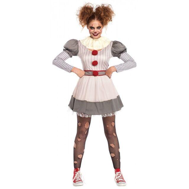 Creepy Scary Psycho Twisted Circus Clown Dress Pettiskirt Costume Adult Women