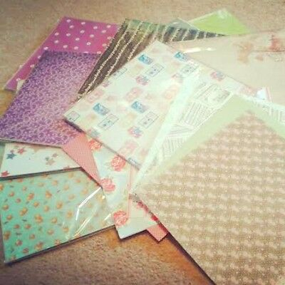 6x6 Assorted Patterned Papers Craft Clearance Grab Bag Scrapbook Cardmaking 15pc