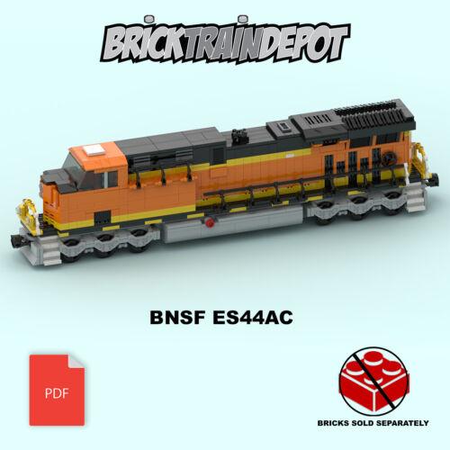 Custom Lego Train Burlington Northern Santa Fe ES44ACInstructions ONLY-w//Decals