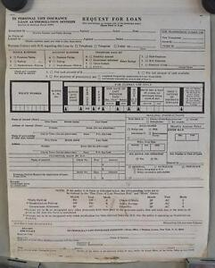 Vintage-Met-Life-Insurance-Form-Request-For-Loan