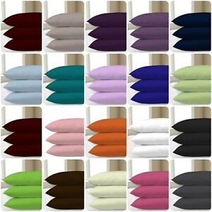 2X-Pillowcase-Luxury-Cases-Poly-Cotton-Housewife-Pair-Pack-Bedroom-Pillow-Covers
