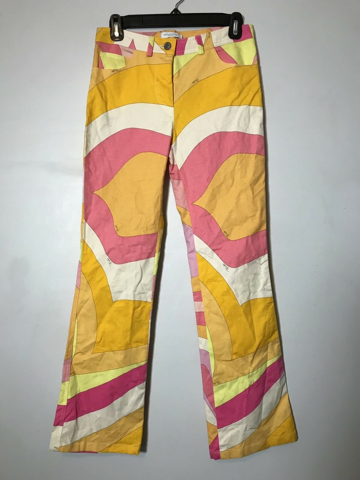 Emilio Pucci Abstract Sorbet Sunset Pink orange Medley Jeans Size 36