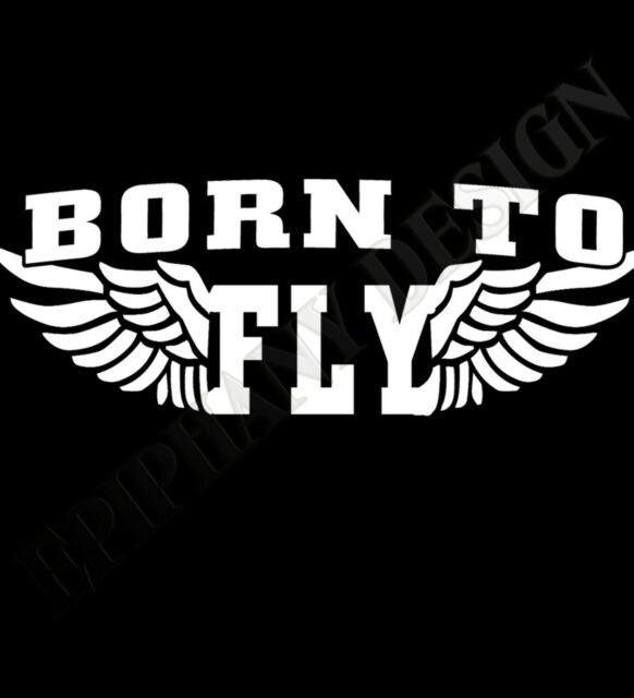 Born To Fly T-Shirt Pilot Pilots Hang Gliding Paragliding Diver Motorbiker Speed