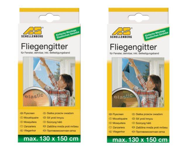 Fliegengitter Elastic für Fenster Schellenberg 130x150cm anthrazit