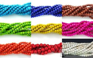 Howlite-Turquoise-Gemstone-Round-Loose-Beads-2mm-3mm-4mm-6mm-8mm-10mm-12mm-16-034