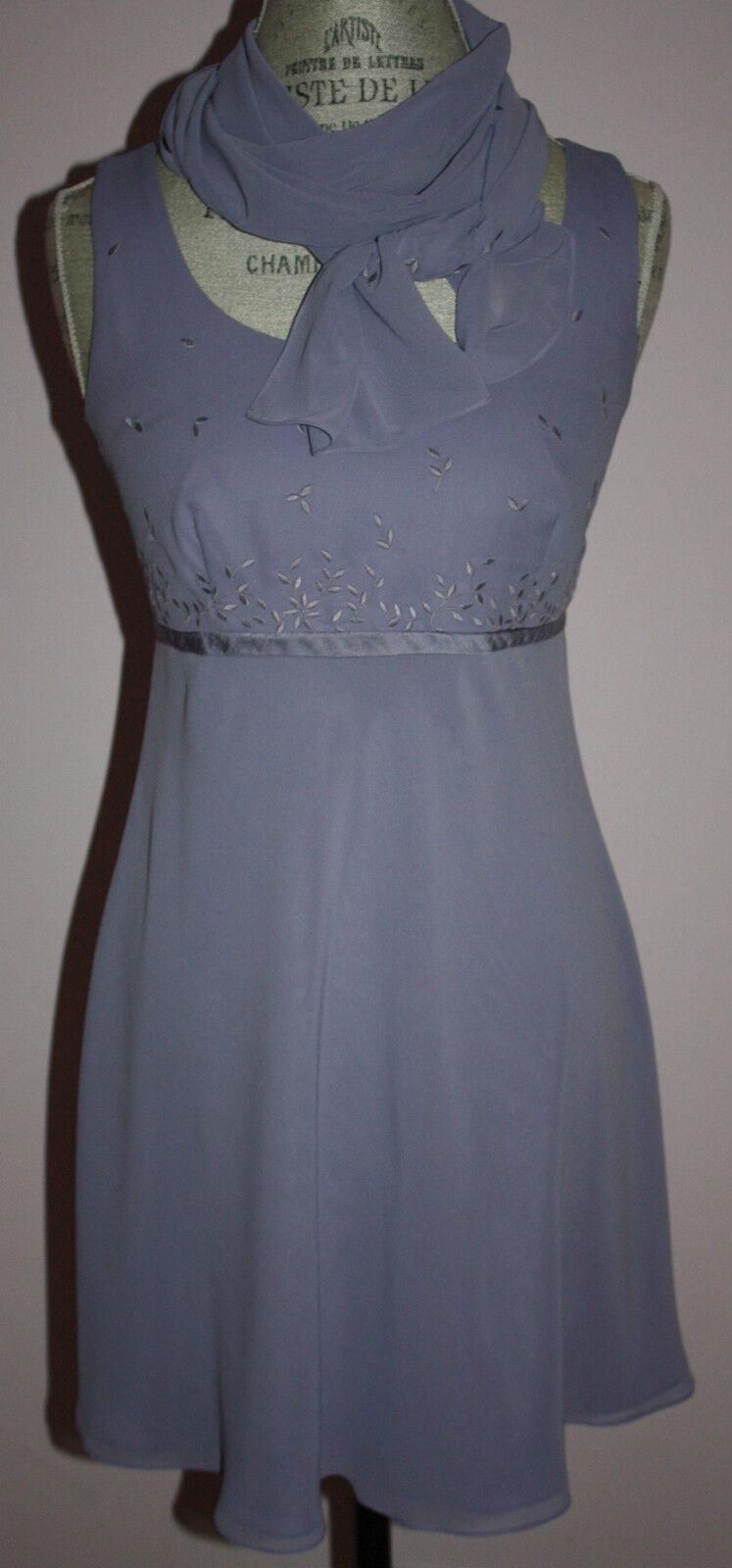 damen Phoebe Lavender Floral Dress with Scarf Größe 6