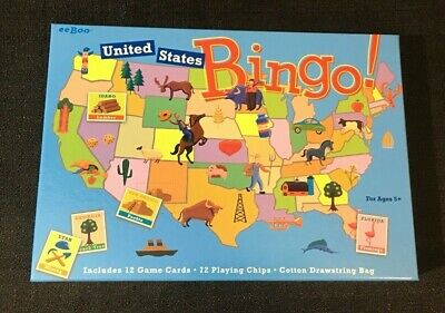 "NEW eeBoo /""United States Bingo/"" Educational Game for the Whole Family"