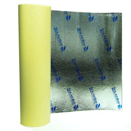 10 x 1m Solar Bay Self Adhesive Bubble Foil Insulation Home Loft Caravan Van