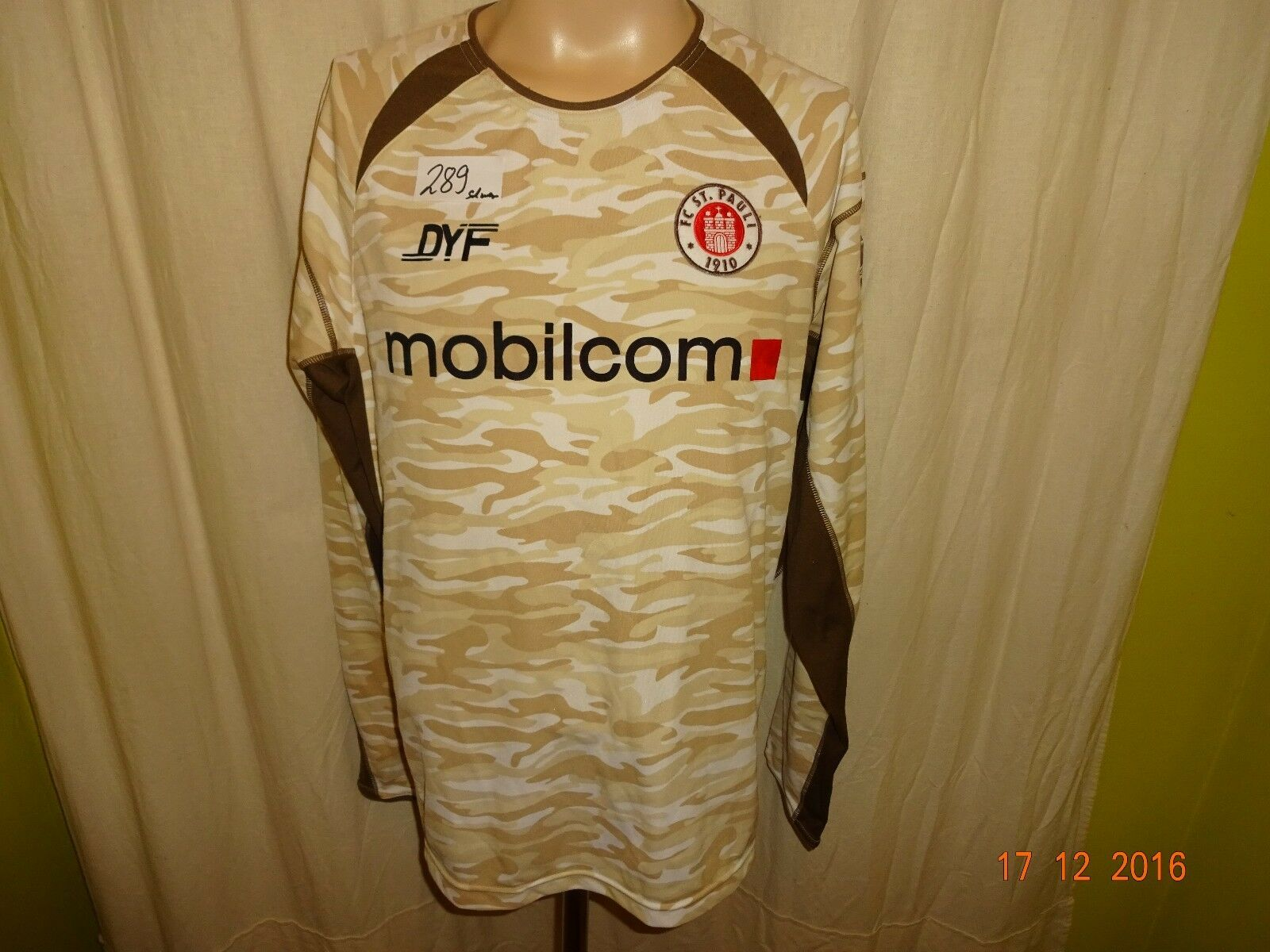 FC St.Pauli Original Langarm DFB Pokal Trikot 2005/06