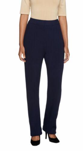 Linea by Louis Dell/'Olio Petite Whisper Knit Pants A257386 2X Black