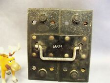 Weco 100 Amp Main Fuse Pull Out Lid Holder Vintage
