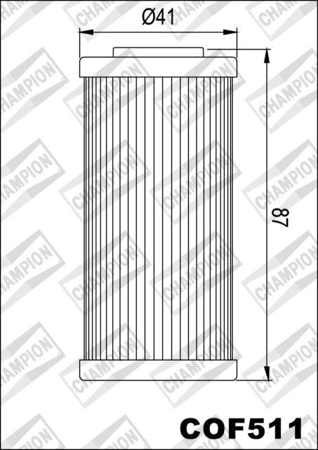 COF511 Filtro De Aceite CHAMPION HusqvarnaSMR5115112011>2012