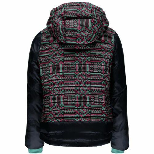 Spyder Girls Nora Hooded Down Jacket,Ski Snowboarding Jacket,Size XL 16//18 Kids