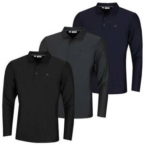 Calvin-Klein-Homme-2020-a-manches-longues-Light-Central-Golf-Polo-Shirt-45-off-RRP