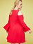 Lane-Bryant-Cold-Shoulder-Bell-Sleeve-Fit-Flare-Dress-14-16-18-22-24-26-2x-3x-4x thumbnail 2