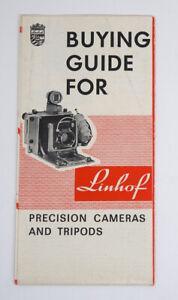 LINHOF Buying Guide Cameras & Tripods 1964