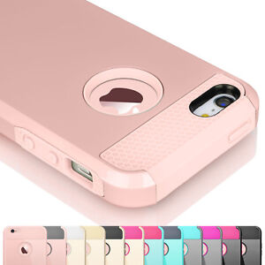 Hybrid-Rugged-Rubber-Hard-Shockproof-Case-Cover-Skin-for-iPhone-5-SE-5S