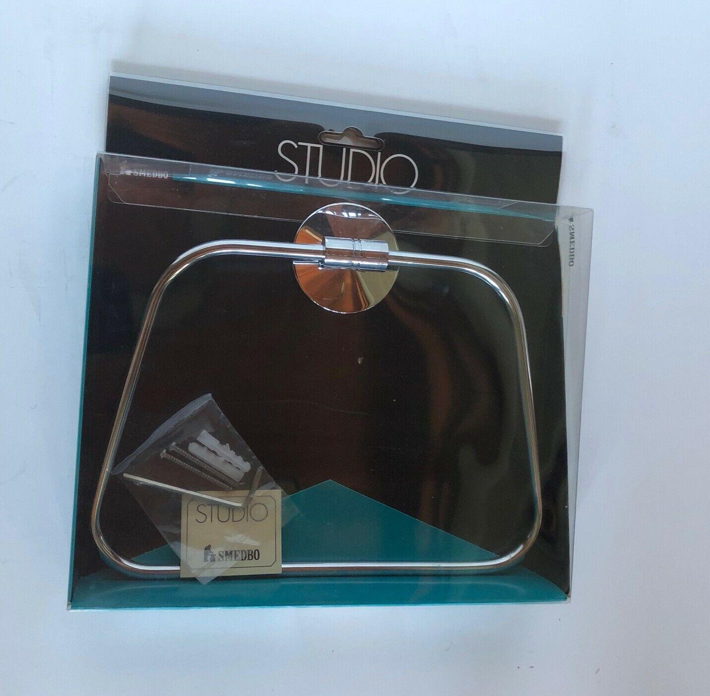 Smedbo Studio Series Polished Chrome Towel Ring Part #NK 344