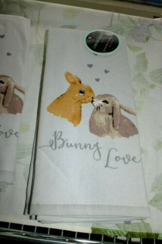 CYNTHIA ROWLEY KITCHEN TOWEL SETS Bunny Blessed Pug Life Dogs PLACEMATS FLAMINGO