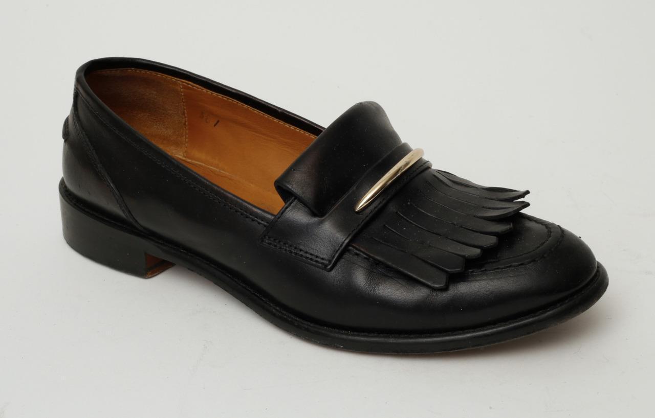 risposta prima volta M. GEMI donna nero Leather Tassel Loafers Flats Flats Flats Driving scarpe 8.5-38.5  clienti prima reputazione prima