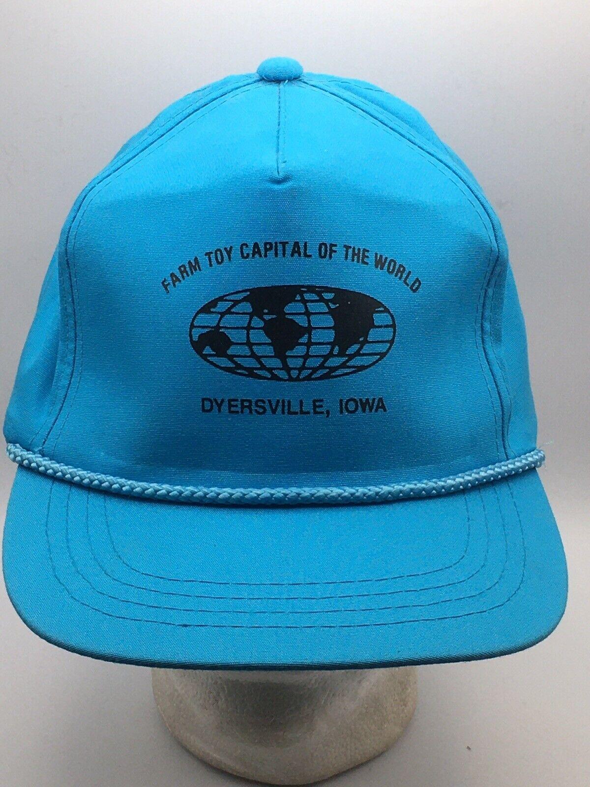 """Farm Toy Capitol of the World "" Dyersville, IA Iowa Vintage Rope Snapback Hat"