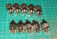 PL259 RG58/U tornillo en tapones diez nuevos insertos Marrón Radio Ham utilizan 6 mm coaxial