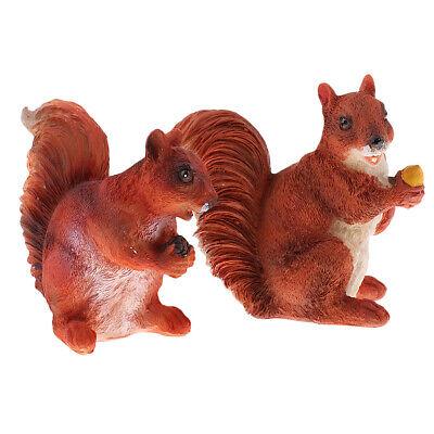 KingbeefLIU 4 Pezzi Mini Scoiattolo Animale Figurina Fai da Te in Miniatura Fata Giardino Bonsai Ornamento Mini Simulazione Decorazione Cabina Giallo 4 Pezzi