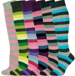 Knee Multicolore Stripe High Mysocks Pairs Socks 6 1xXwqcEFY