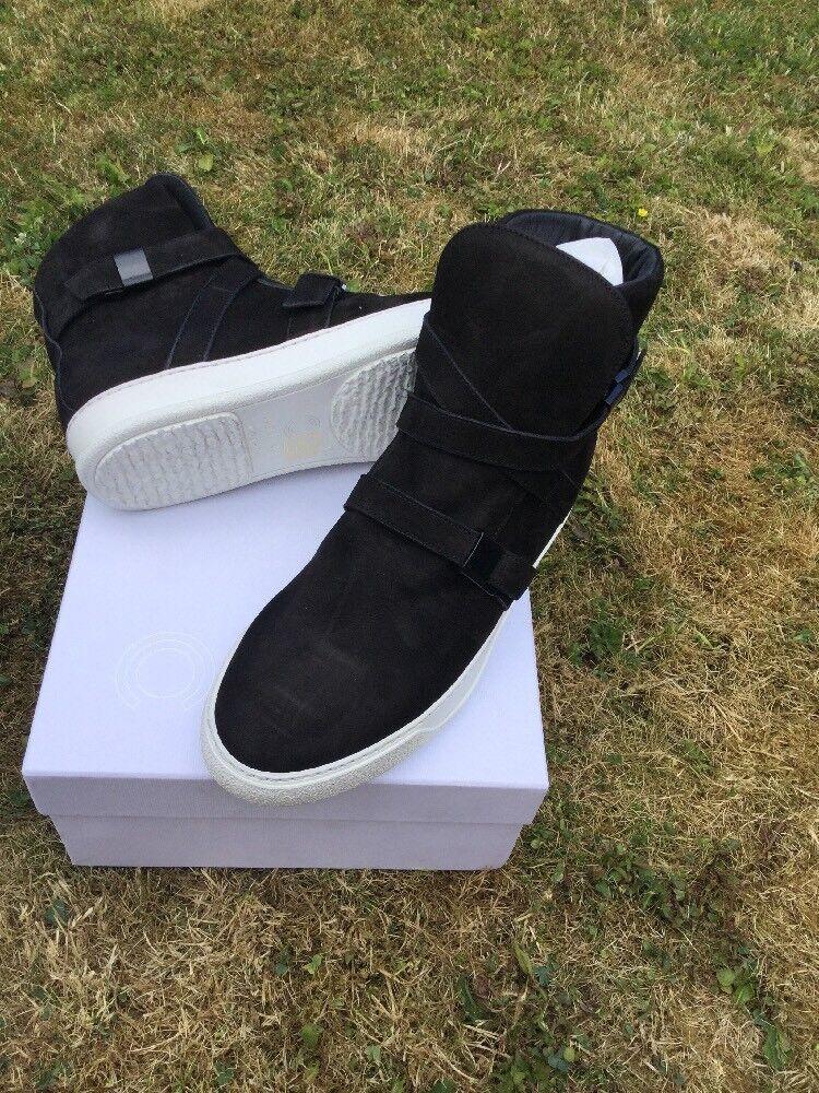 Cipher Parallax Hi-top trainers.Black Nubuck Leather Size 42eu 8Uk