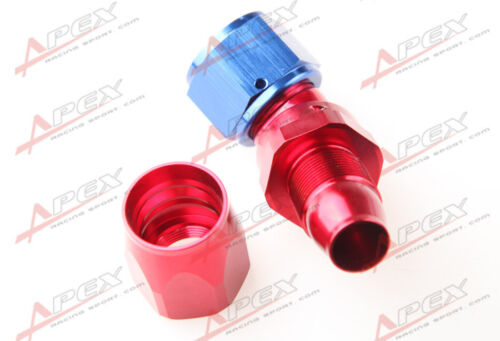 12AN AN12 45 Degree Push-Lock One Pieces Full Flow Hose End Fitting Red//Blue