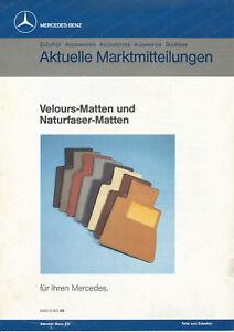 Mercedes-Aktuelle-Marktmitteilungen-Velours-Matten-Prospekt-1980er-1985-brochure