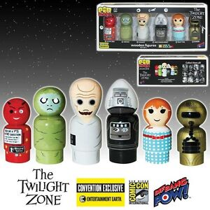 The-Twilight-Zone-Pin-Mate-Wooden-Figure-Set-of-6-2016-SDCC-Exclusive-NEW